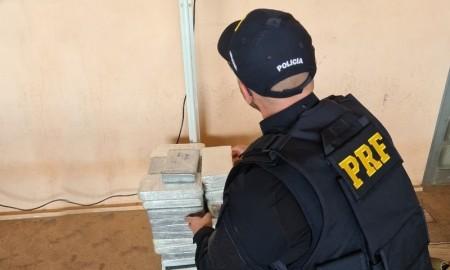 Foram encontrados 44 quilos de cocaína