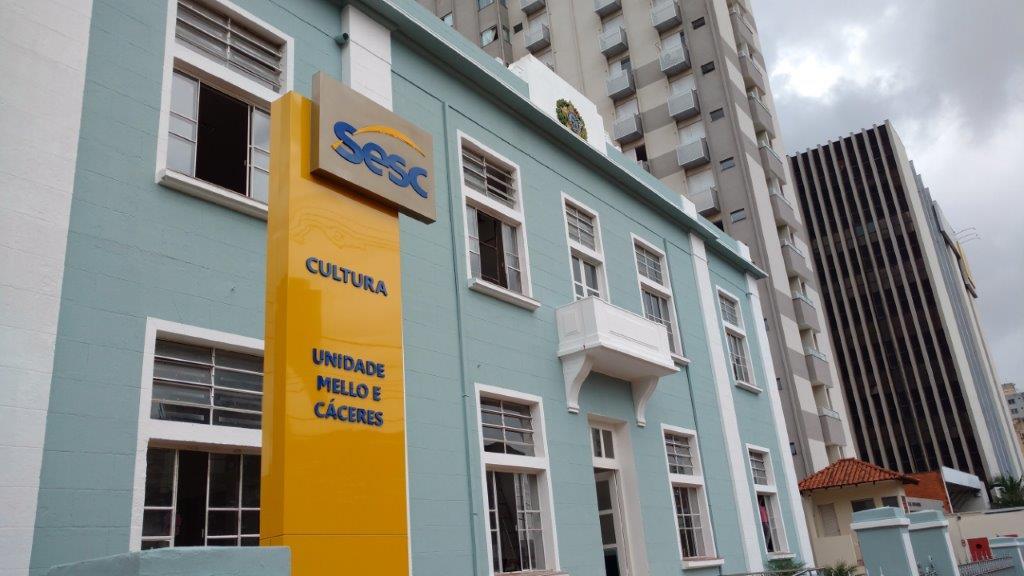 O Sesc Cultura está localizado na Avenida Afonso Pena - Centro, Campo Grande - MS