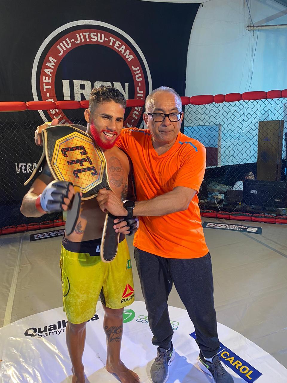 Marreta com o pai e treinador o médico Manoel João