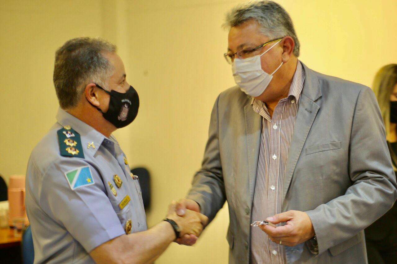O tenente-coronel Élcio Almeida, comandante do 6ºBPM em Corumbá, agradeceu ao deputado pelo reconhecimento.