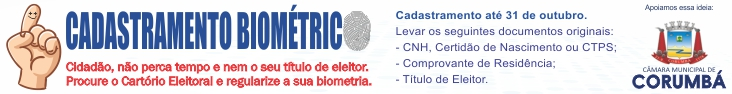 Câmara de Corumbá - Biometria