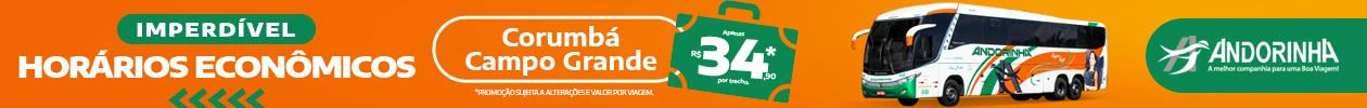 Andorinha - Horários Econômicos - CorumbáXCampo Grande - Março