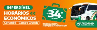 Andorinha_Horários Econômicos_CorumbáXCampo Grande_Março